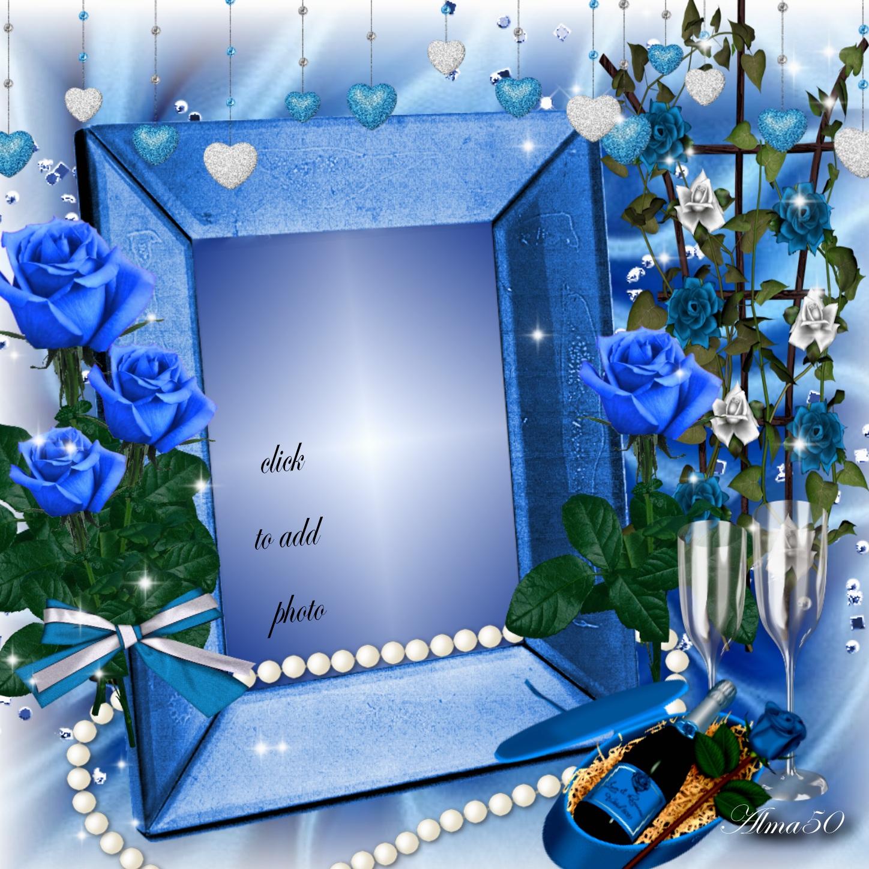 Imikimi Photo Frame Editor.Imikimi Zo Other Photo Album Frames Blue Roses Frame