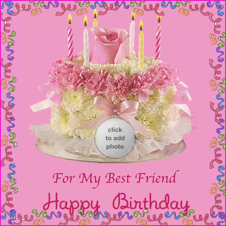 Imikimi Zo Birthday Frames For My Best Friend A Flower Birthday Cake Candles Nascarmom