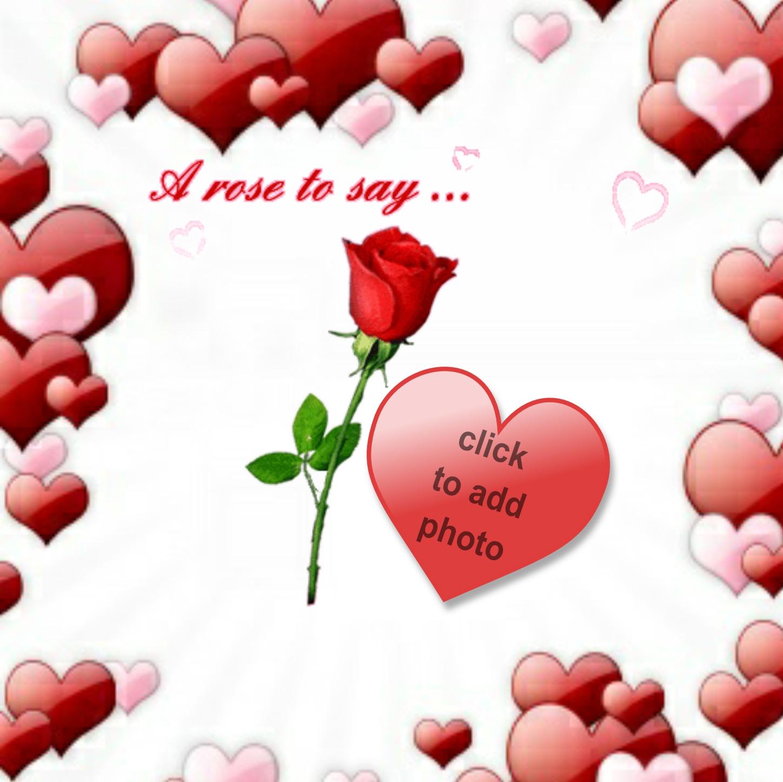 Imikimi Zo - I Love You Frames - hearts with a rose to say i love u ...