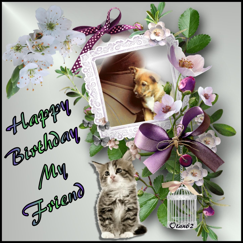 Imikimi Happy Birthday Frames For Friend Frameimage