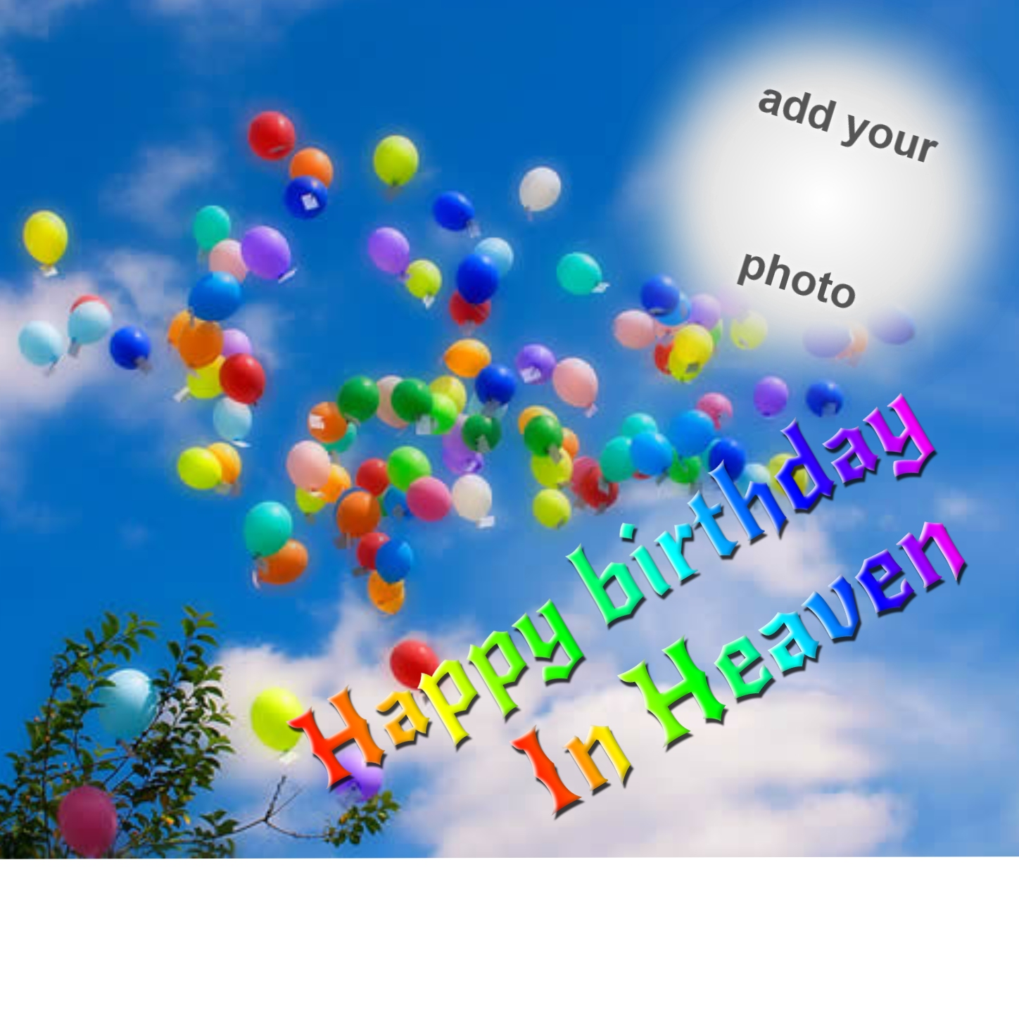 Imikimi Zo Birthday Frames Happy In Heaven Balloons And Clouds Og Beautiful Birthdays