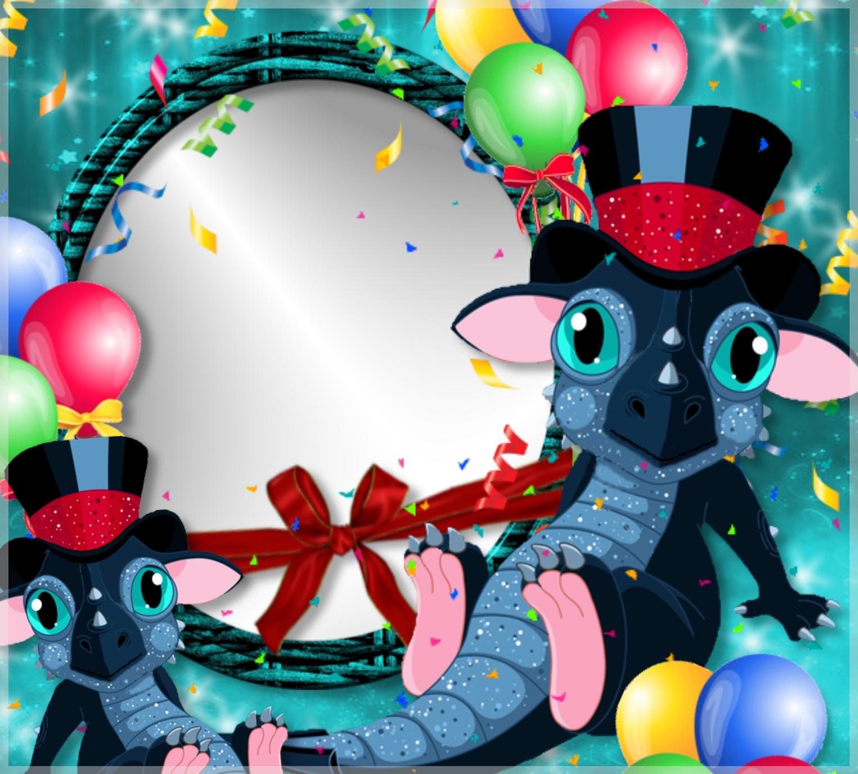 Imikimi Zo - China Frames - sweet dragon frame happy new year ...
